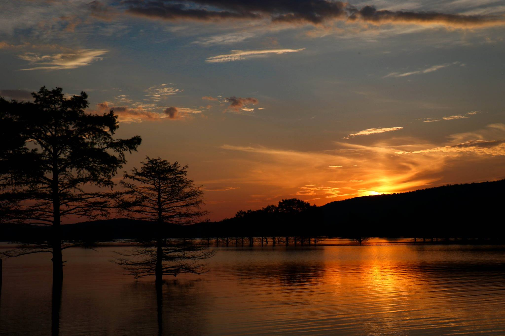 Blue Mountain Lake Sunset